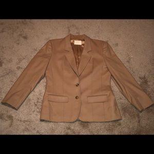Women's Pendleton tan wool blazer size 10